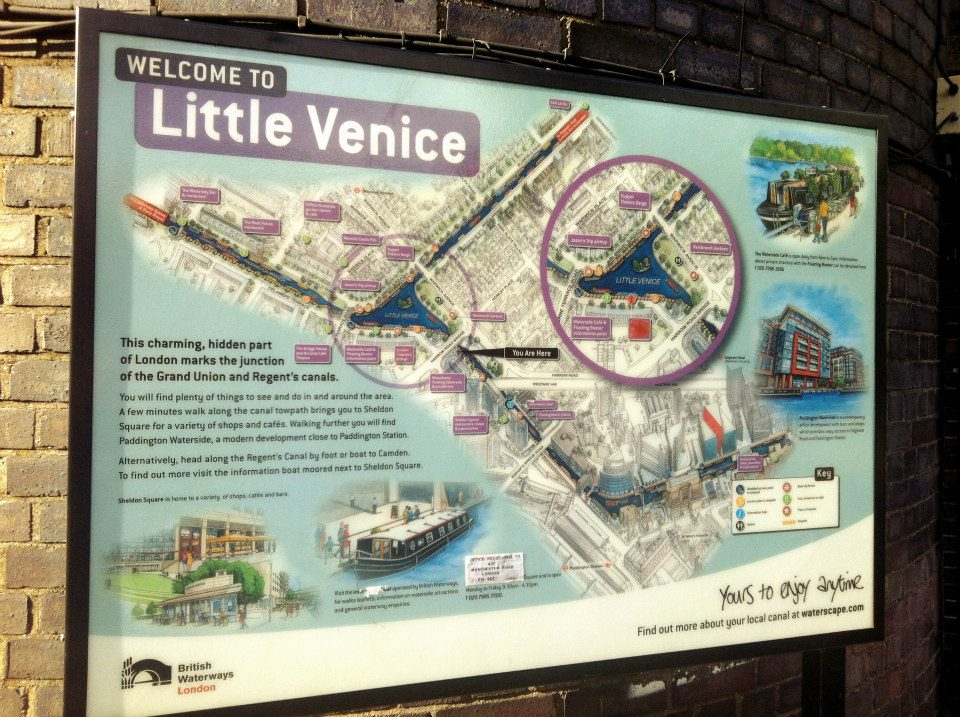 Little Venice In London Days Of Sunshine - Little venice map