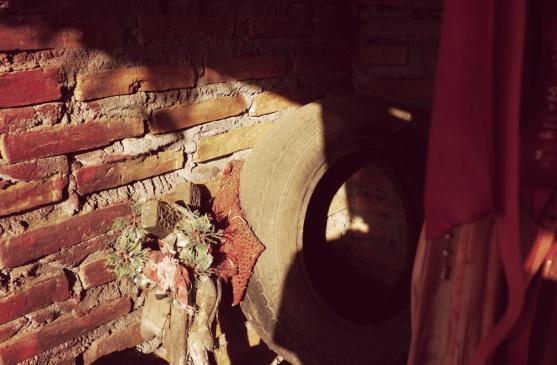 Inside of a shrine to Gauchito Gil