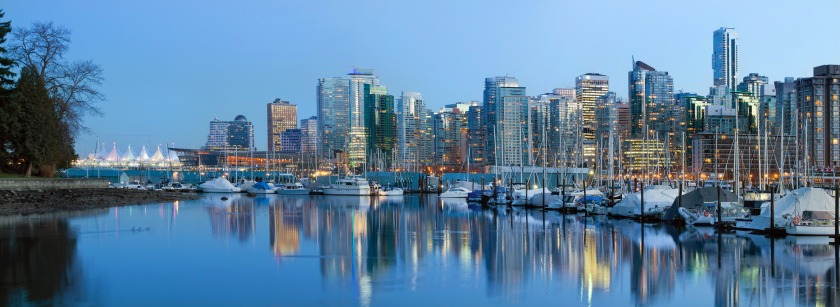 Vancouver BC City Skyline at Dusk
