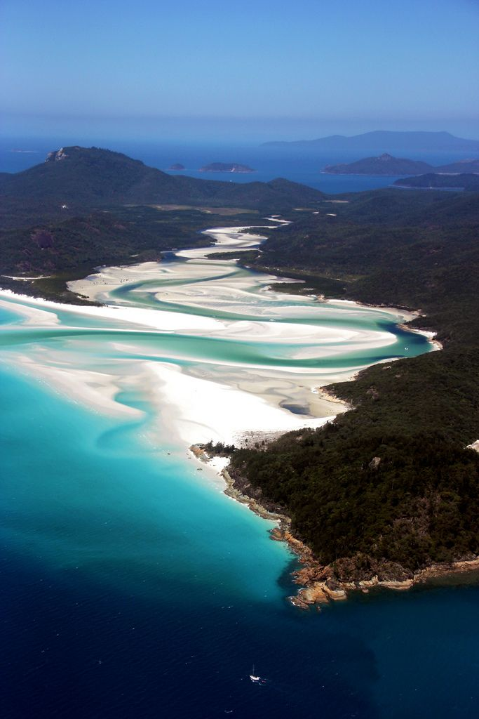 Whitehaven Beach, Whitsunday Islands, Australia...
