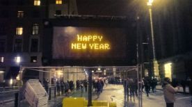 Happy New Year sign at Southbank