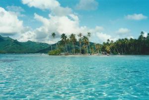 The Turquoise Lagoon of Tahaa, French Polynesia