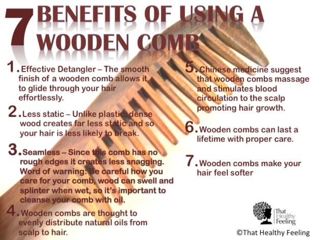 wooden hair combs